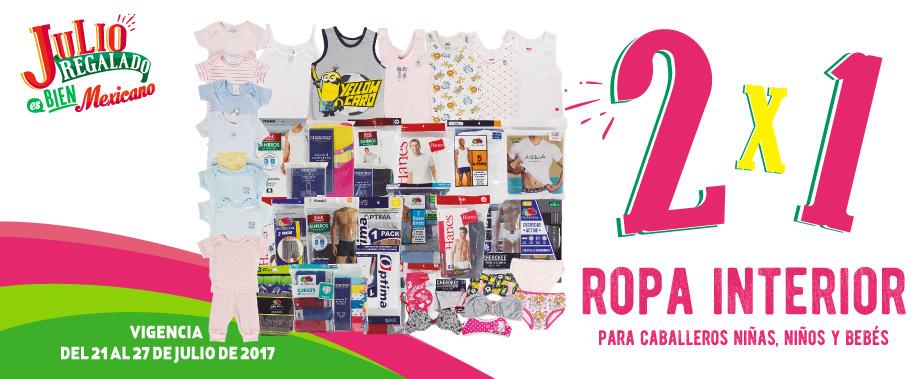 Julio Regaldo 2017: 2×1 en ropa interior para Caballero, Niños, Niñas y Bebés al 25 de Julio 2017