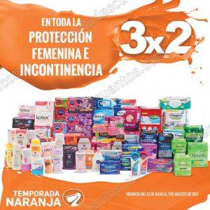 Temporada Naranja La Comer 2017: 3×2 en Protección Femenina e Incontinencia al 7 de Agosto