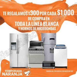 Temporada Naranja La Comer: $300 de descuento por cada $1,000 en Línea Blanca y Hornos de Microondas