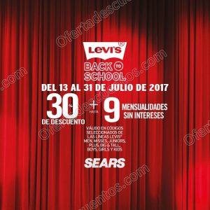Sears: 30% de descuento más hasta 9 meses sin intereses en marca Levi's del 13 al 31 de Julio 2017
