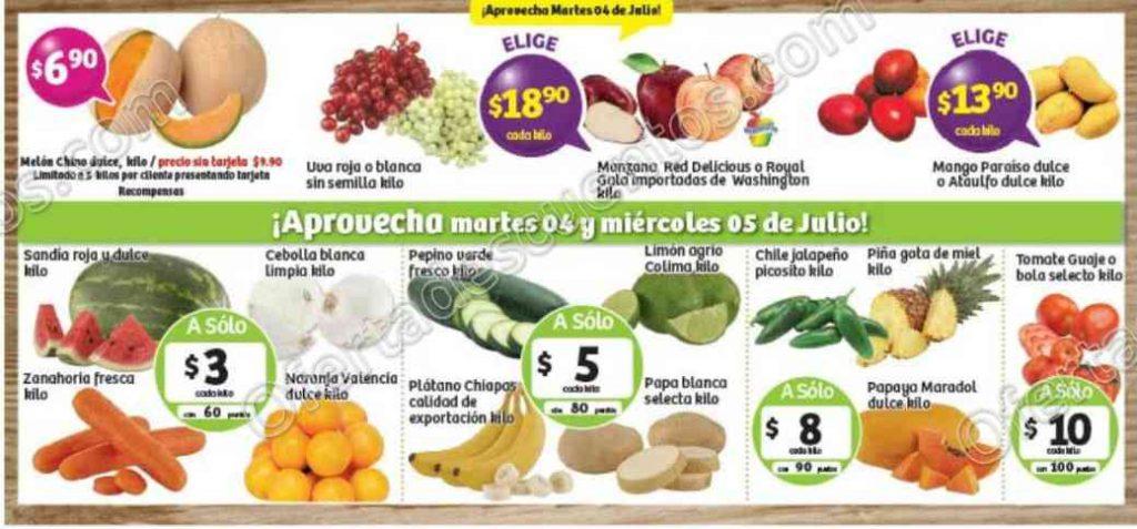 Frutas y Verduras Soriana 4 y 5 de Julio 2017