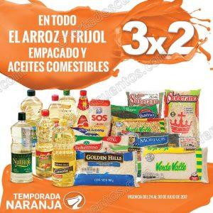 Temporada Naranja 2017 La Comer: 3×2 en Frijol, Arroz Empacado y Aceites del 24 al 30 de Julio