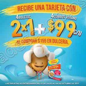 Promociones Verano Cinemex: Compra $155 en dulcería y llévate 4 entradas al 2×1 y más