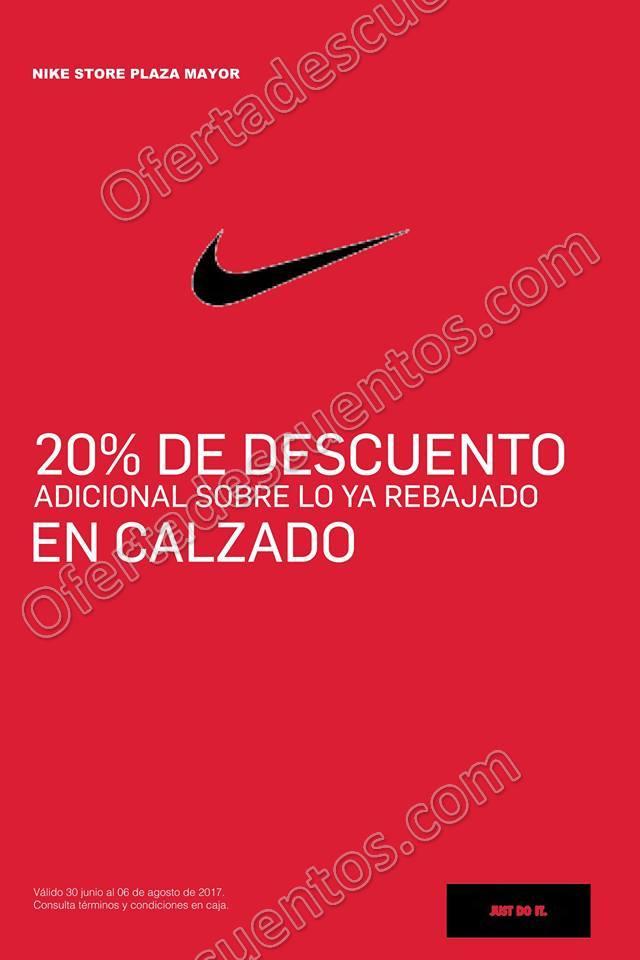 Nike Factory Store: 20% de descuento adicional a lo ya rebajado al 6 de Agosto 2017