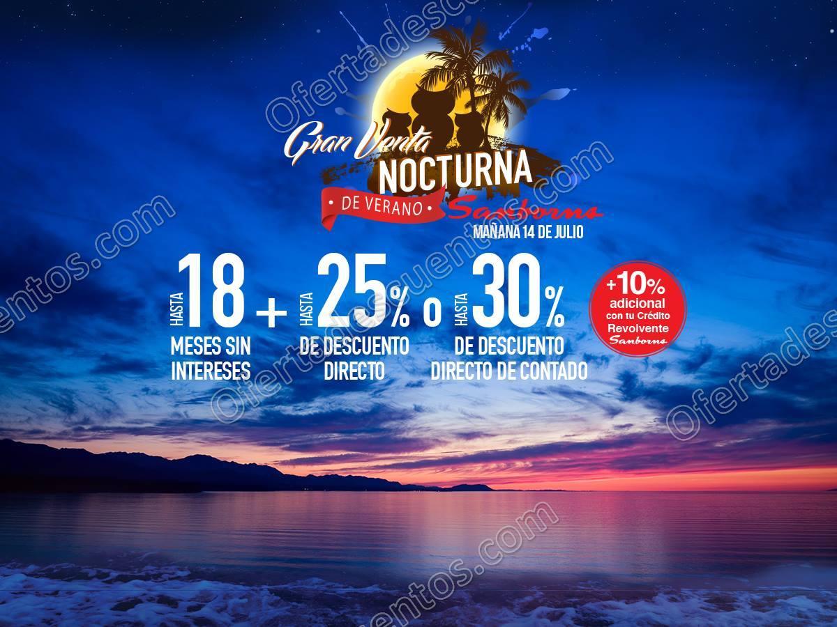 Venta Nocturna de Verano Sanborns 14 de Julio 2017