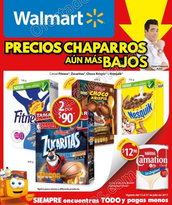 Walmart: Folleto de Promociones Precios Chaparros del 12 al 31 de Julio 2017