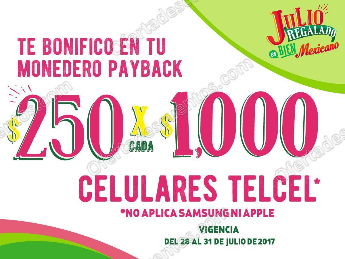 Julio Regalado 2017: $250 de Bonificación por Cada $1,000 de Compra en Celulares Telcel