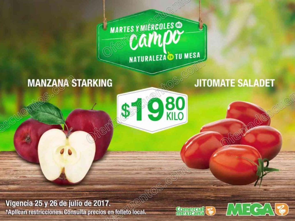 Frutas y Verduras Comercial Mexicana del 25 y 26 de Julio 2017