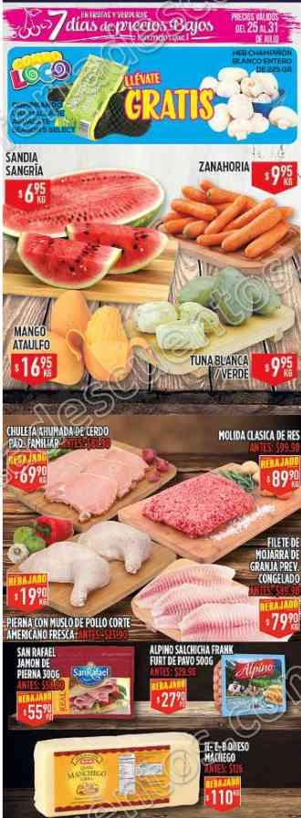 Frutas y Verduras HEB del 25 al 31 de Julio 2017