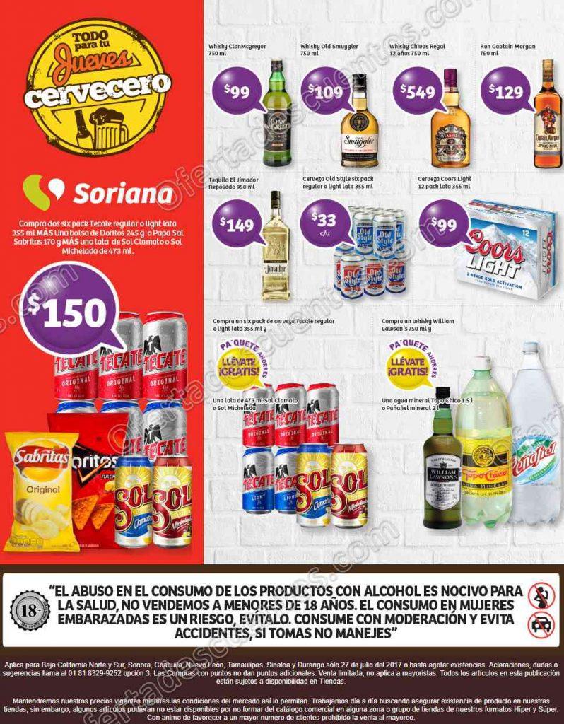 Jueves Cervecero Soriana 27 de Julio 2017