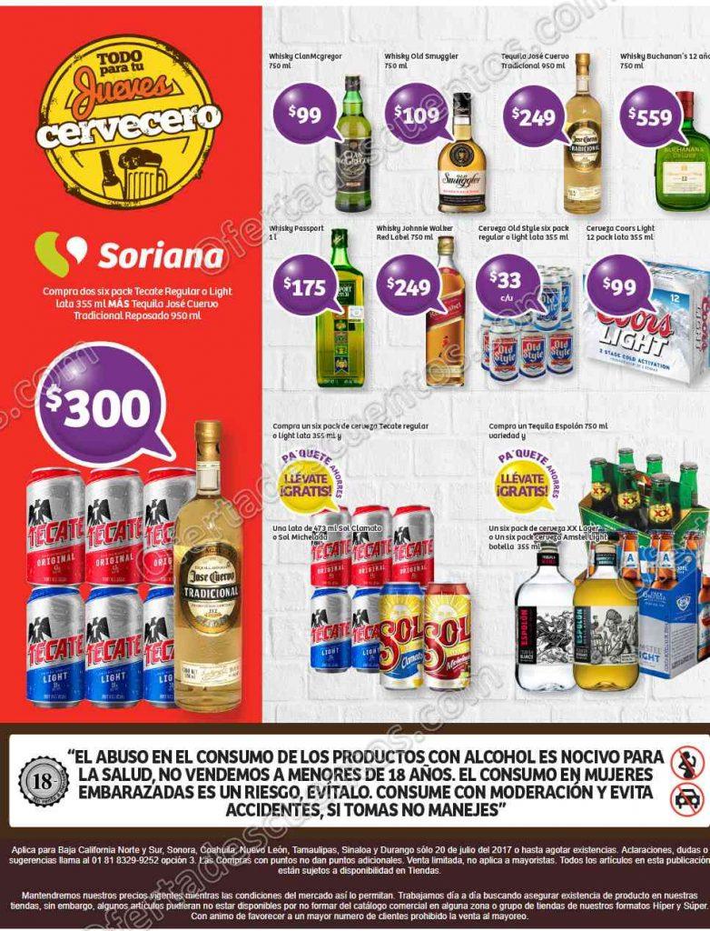Jueves Cervecero Soriana 20 de Julio 2017