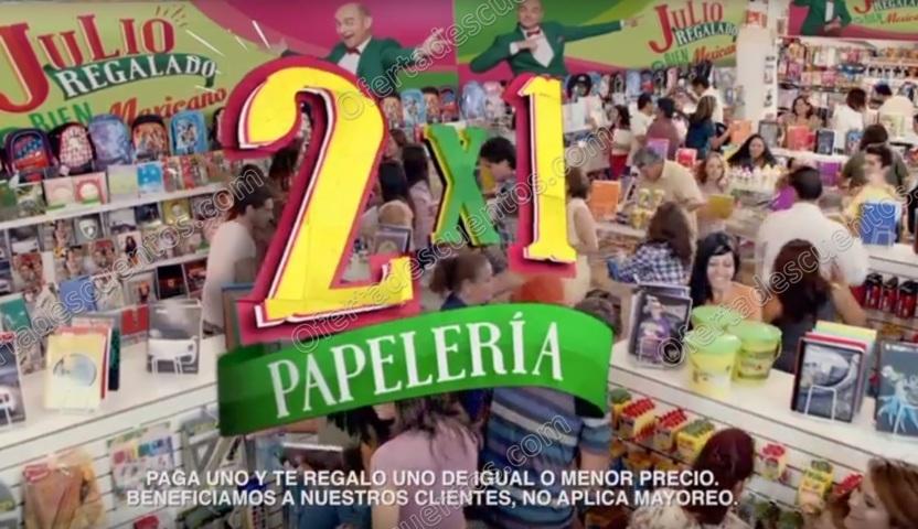 Julio Regalado 2017: 2×1 en Toda la Papelería del 7 al 10 de Julio