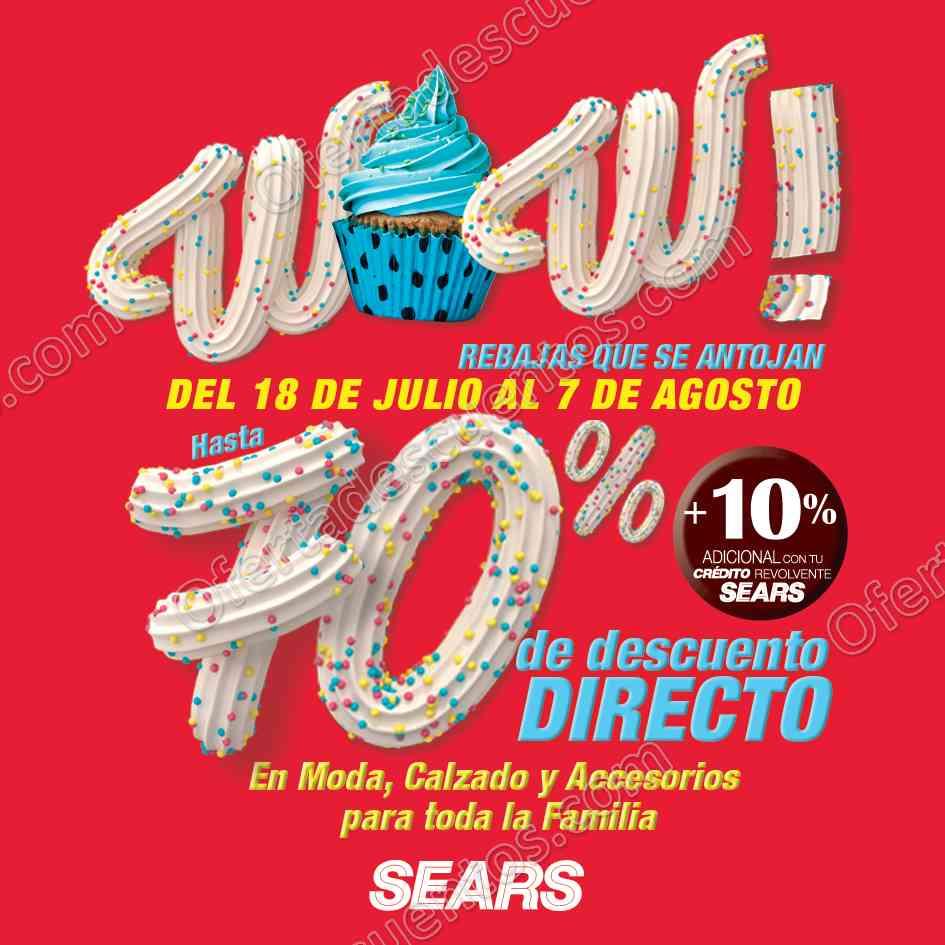 Sears: Rebajas WOW Hasta 70% de Descuento del 18 de Julio al 7 de Agosto 2017