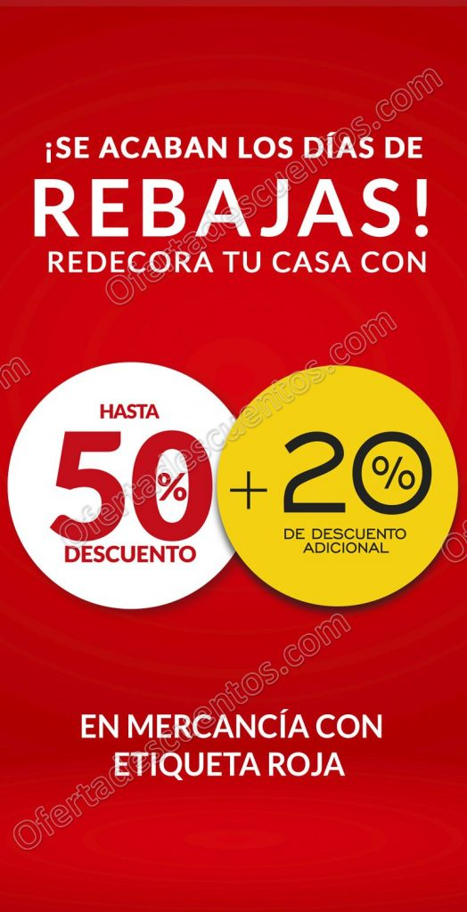 The Home Store: Rebajas de Temporada 50% de Descuento + 20% Adicional
