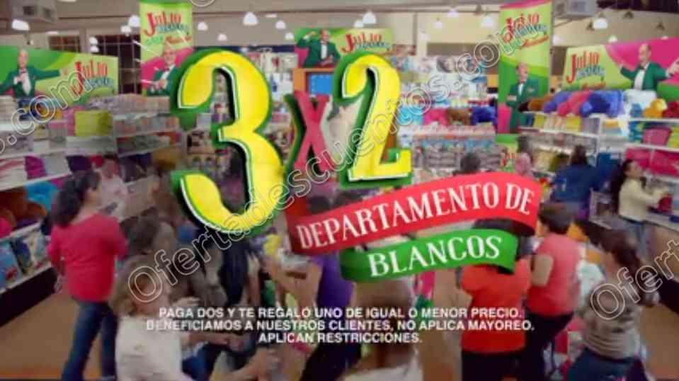 Julio Regalado 2017: 3×2 en Departamentos de Blancos del 2 al 5 de Agosto 2017