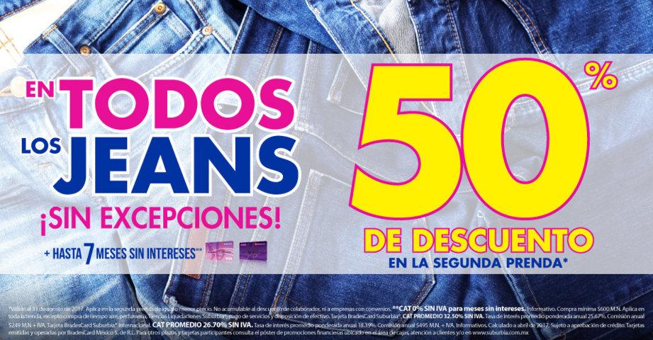 Suburbia: 50% de Descuento en Segunda Compra de Jeans