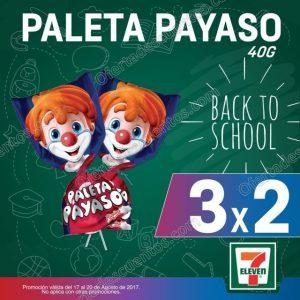 7 Eleven: 3×2 en Paletas Payaso del 17 al 20 de Agosto 2017
