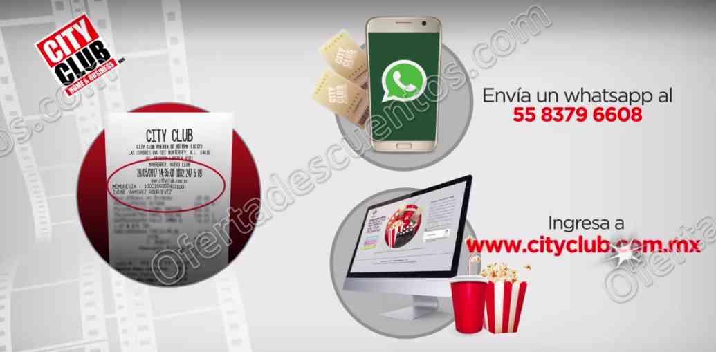 City Club te Premia: 2 boletos Cinépolis gratis al registrar tus compras