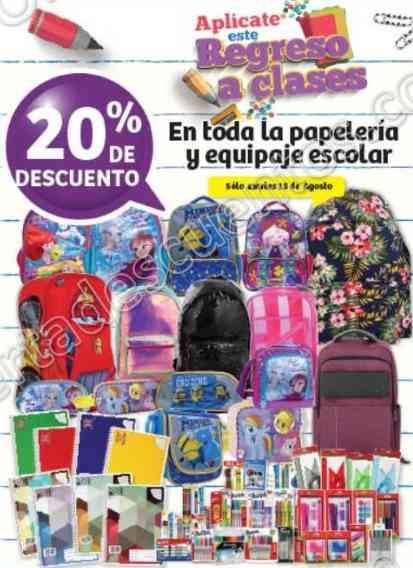 Soriana: 20% de descuento en Toda la Papelería y Equipaje Escolar sólo 15 de Agosto 2017