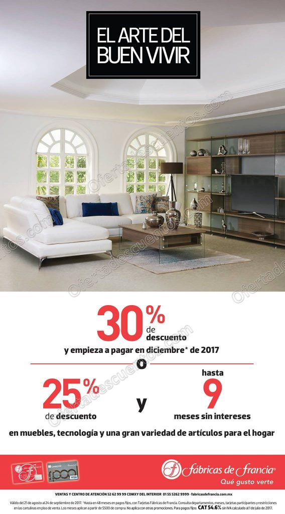 El Arte del Buen Vivir Fábricas de Francia 2017: Hasta 30% de descuento en Muebles