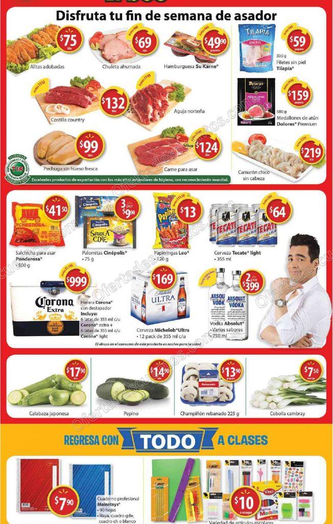 Walmart: Fin de Semana de Asador Ofertas en Carnes, Frutas y Verduras del 4 al 6 de Agosto 2017