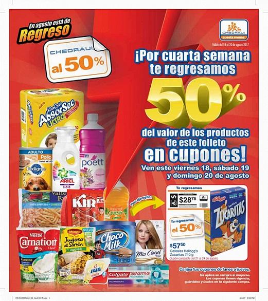Folleto Chedraui al 50% del 18 al 20 de Agosto 2017