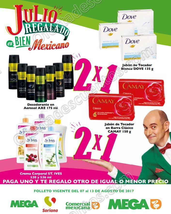 Folleto Ofertas Julio Regalado 2017: Comercial Mexicana, Mega y Mega Soriana del 7 al 13 de Agosto