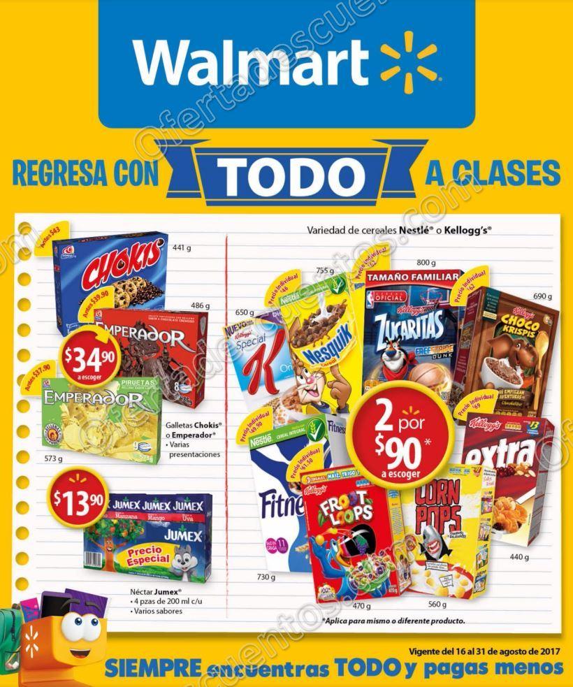 Walmart: Folleto de Ofertas Regreso a Clases del 16 al 31 de Agosto 2017