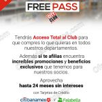 Free pass en City Club del 18 al 21 de agosto OFFDE
