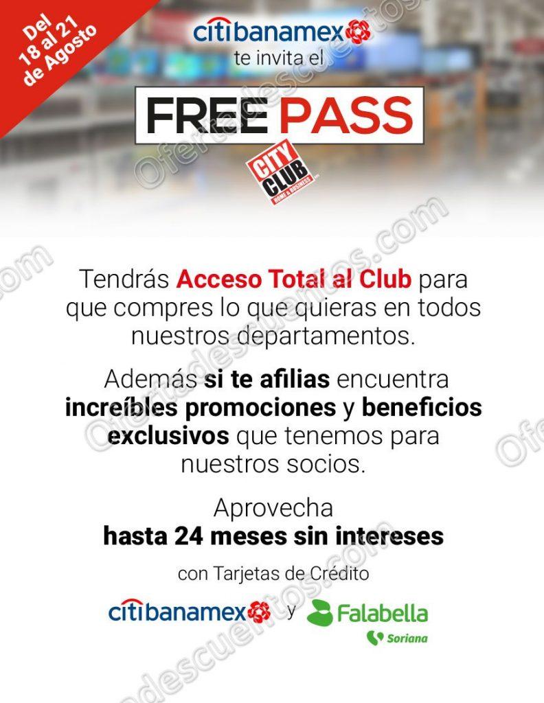 Free Pass City Club: Acceso Total al Club sin membresía del 18 al 21 de Agosto 2017
