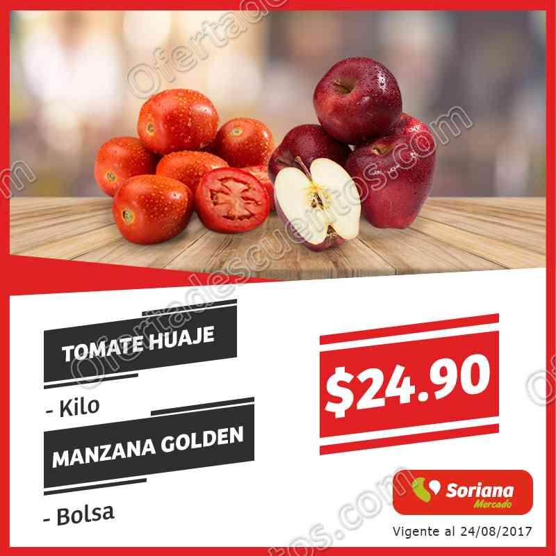 Soriana Mercado: Ofertas Frutas y Verduras del 22 al 24 de Agosto 2017