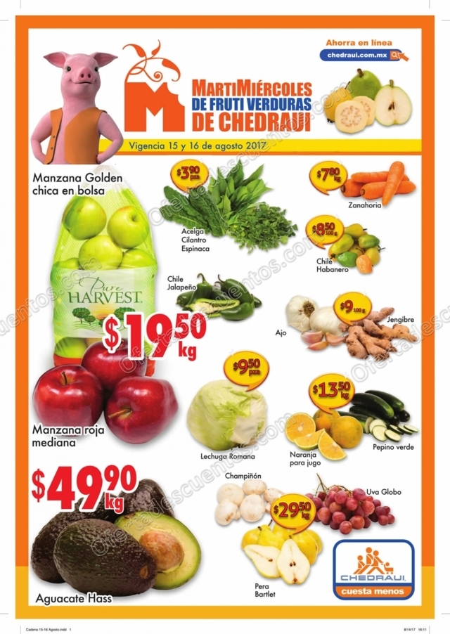 Frutas y Verduras Chedraui 15 y 16 de Agosto 2017