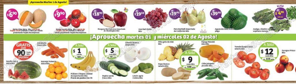 Frutas y Verduras Soriana 1 y 2 de Agosto 2017