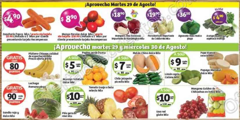 Frutas y Verduras Soriana 29 y 30 de Agosto 2017