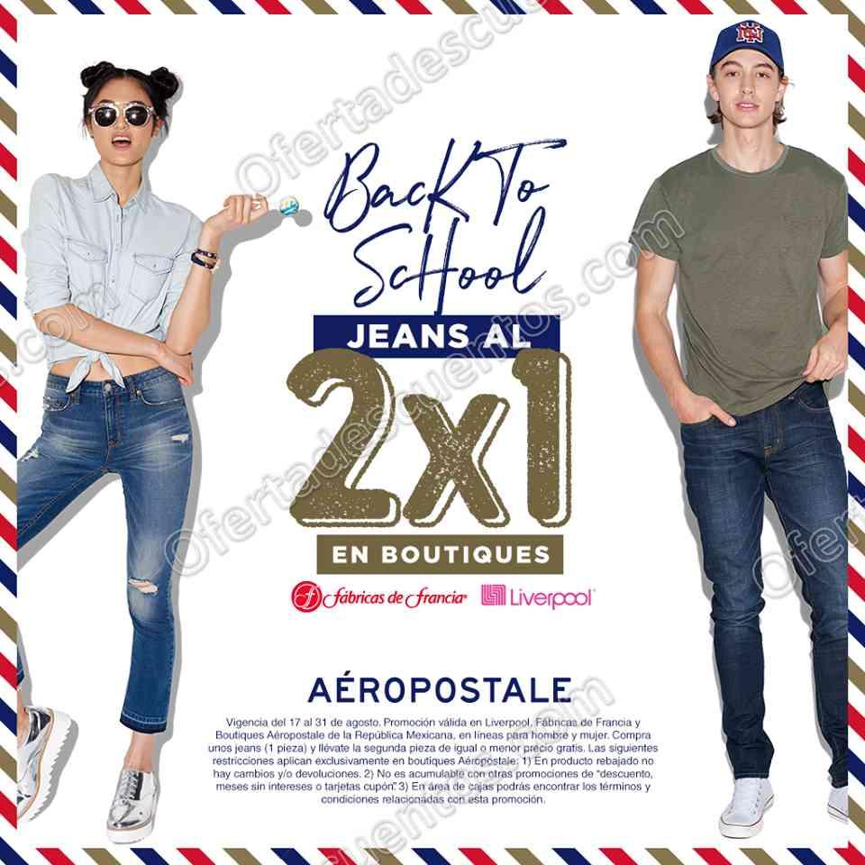 Aéropostale: 2×1 en Jeans para Dama y Caballero al 31 de Agosto 2017