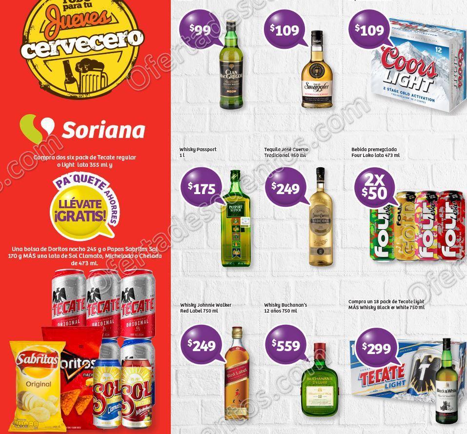 Jueves Cervecero Soriana 31 de Agosto 2017