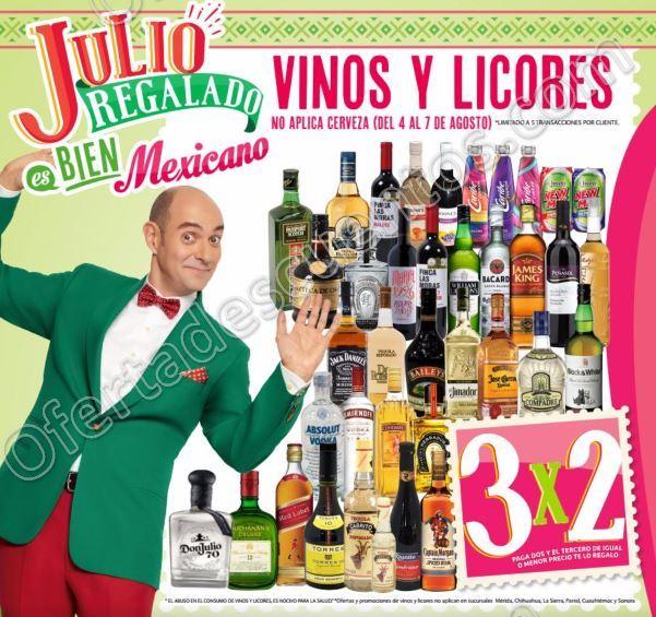 Julio Regalado 2017: 3×2 en Vinos y Licores del 4 al 7 de Agosto 2017