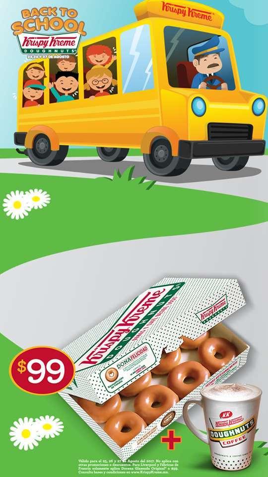 Krispy Kreme: Docena de Donas + Café Por $99 Pesos