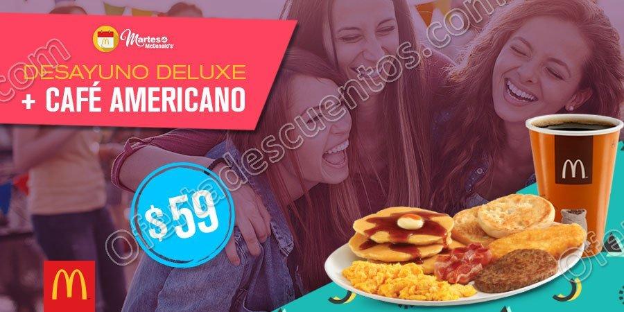 Cupones Martes de McDonald's Desayuno y Comida 15 de Agosto 2017