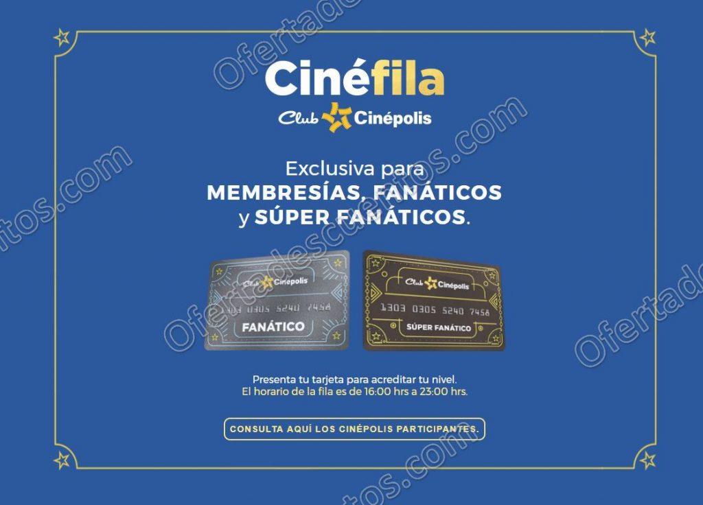 """Cinépolis: Nuevo Beneficio Fila Exclusiva """"Cinéfila"""" para Miembros Fanáticos y Súper Fanáticos"""