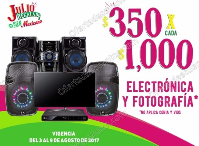 Julio Regalado 2017: $350 de descuento por cada $1,000 en Electrónica y Fotografía al 9 de Agosto