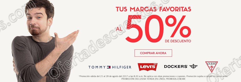Promoda: Toda la página con 50% de descuento en las marcas Levi's, Dockers, Guess y más