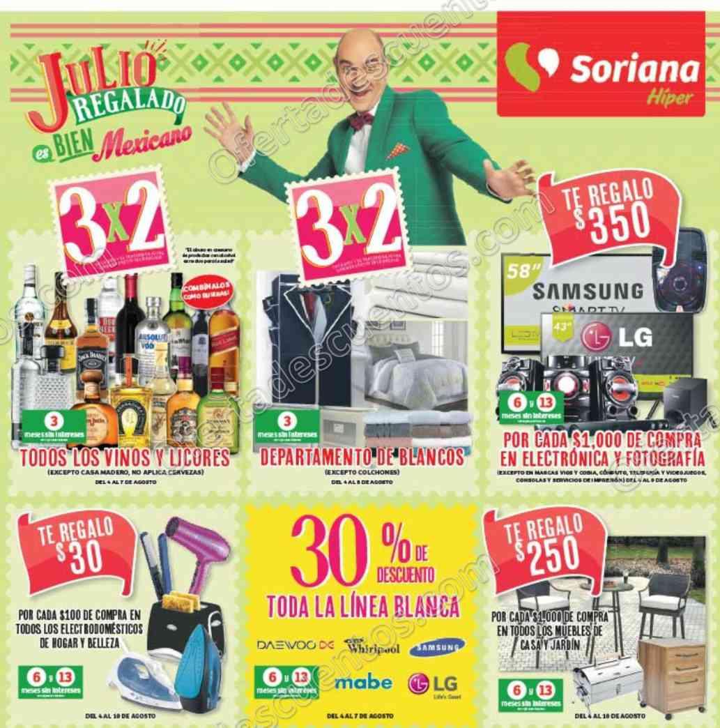 Soriana: Promociones de Fin de Semana del 4 al 7 de Agosto 2017