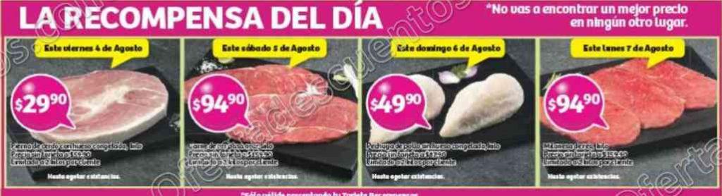 Soriana: Promociones Recompensas del Día del 4 al 7 de Agosto 2017