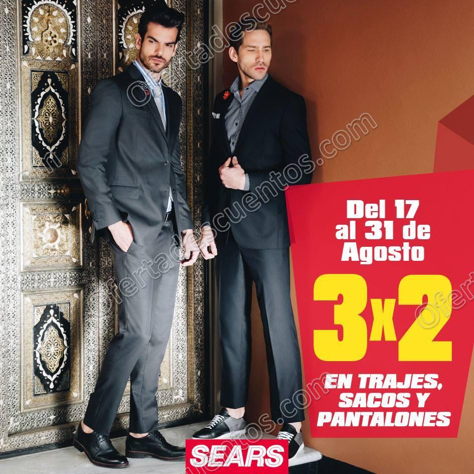 Sears: 3×2 en Trajes, Sacos y Pantalones del 17 al 31 de Agosto