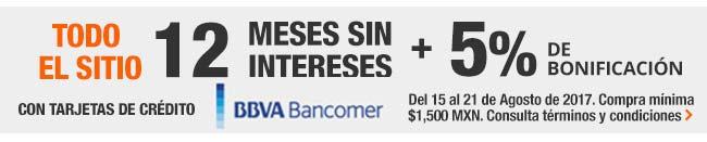 The Home Depot: 12 mese sin intereses más 5% de bonificación con Bancomer