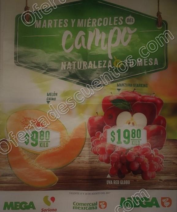 Comercial Mexicana: Frutas y Verduras del Campo 15 y 16 de Agosto 2017