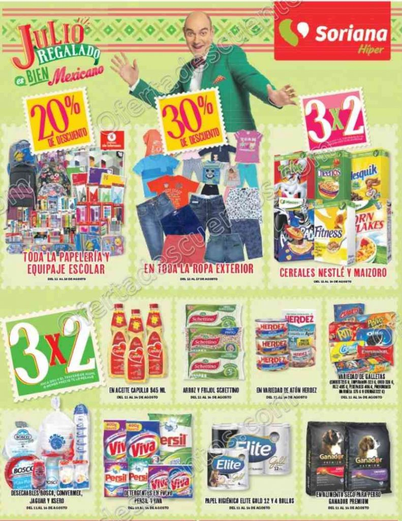 Promociones de fin de Semana Soriana del 11 al 14 de Agosto 2017