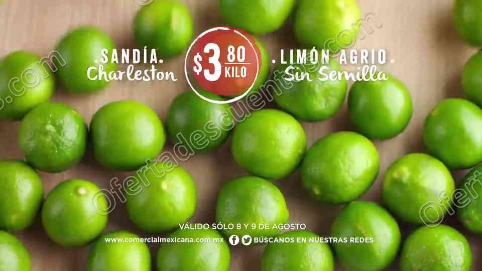 Comercial Mexicana y Mega: Frutas y Verduras del 8 y 9 de Agosto 2017