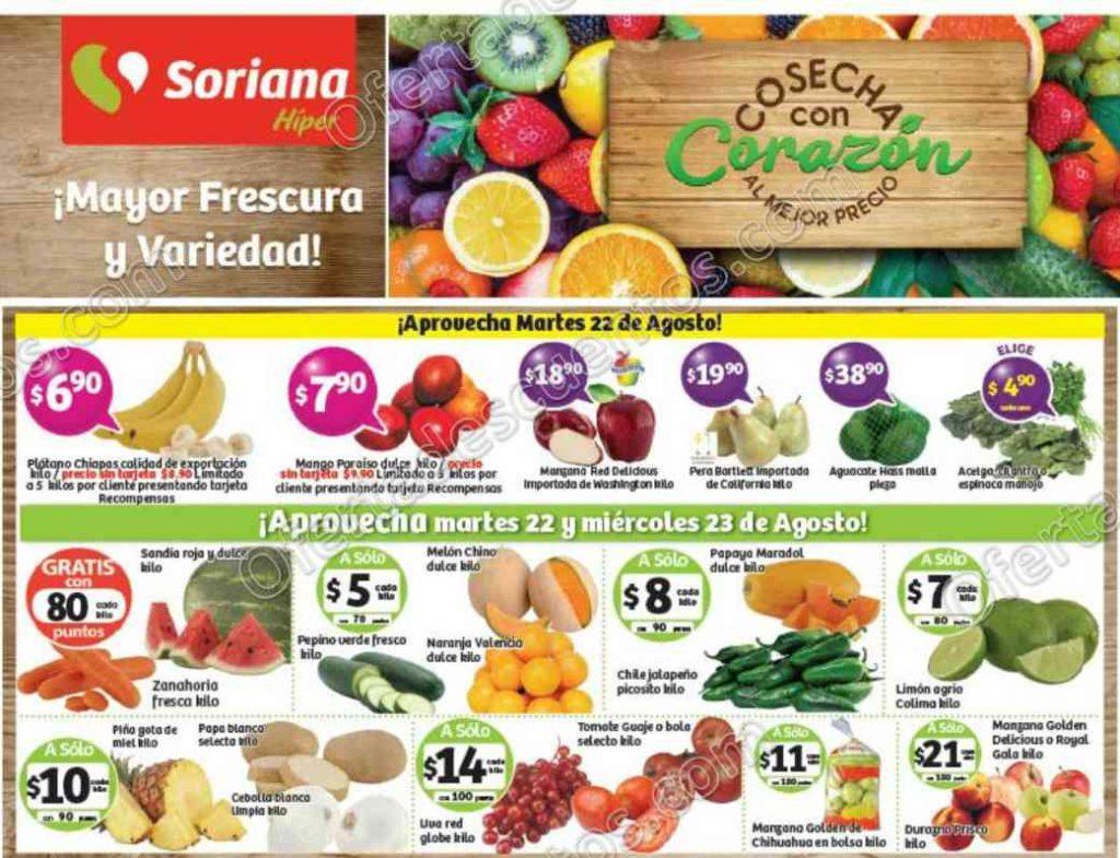 Frutas y Verduras Soriana 22 y 23 de Agosto 2017